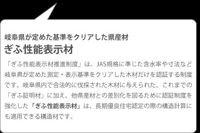 岐阜県が定めた基準をクリアした県産材